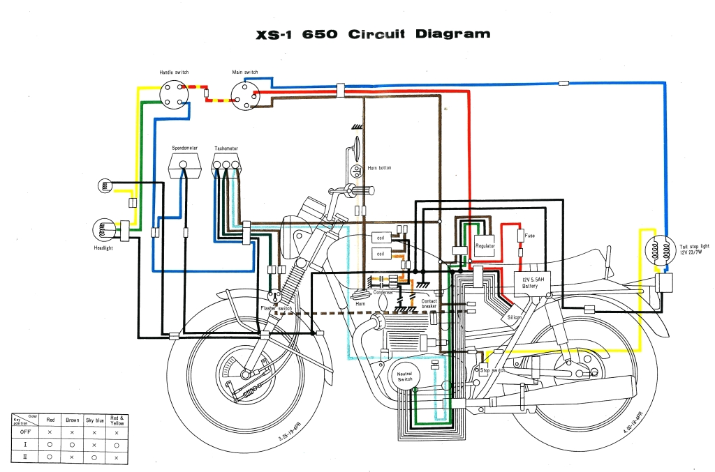 basic electrical wiring diagrams 220 to 110 xs650: 70 xs1 wiring diagram | thexscafe