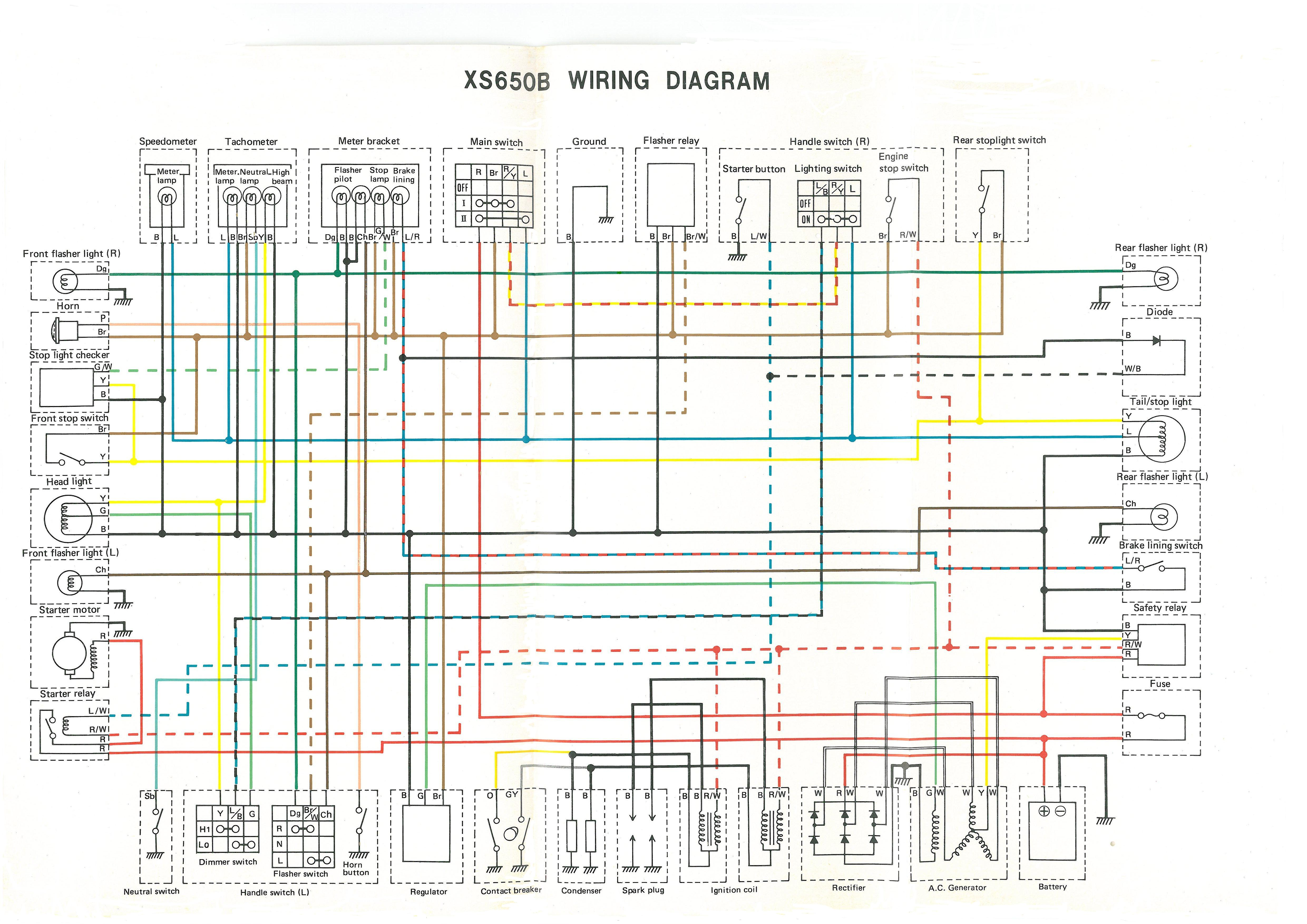 75 xs650b wiring circuit diagram 2?wd10006hd707 1978 yamaha xs650 wiring diagram 1978 wiring diagrams collection  at reclaimingppi.co