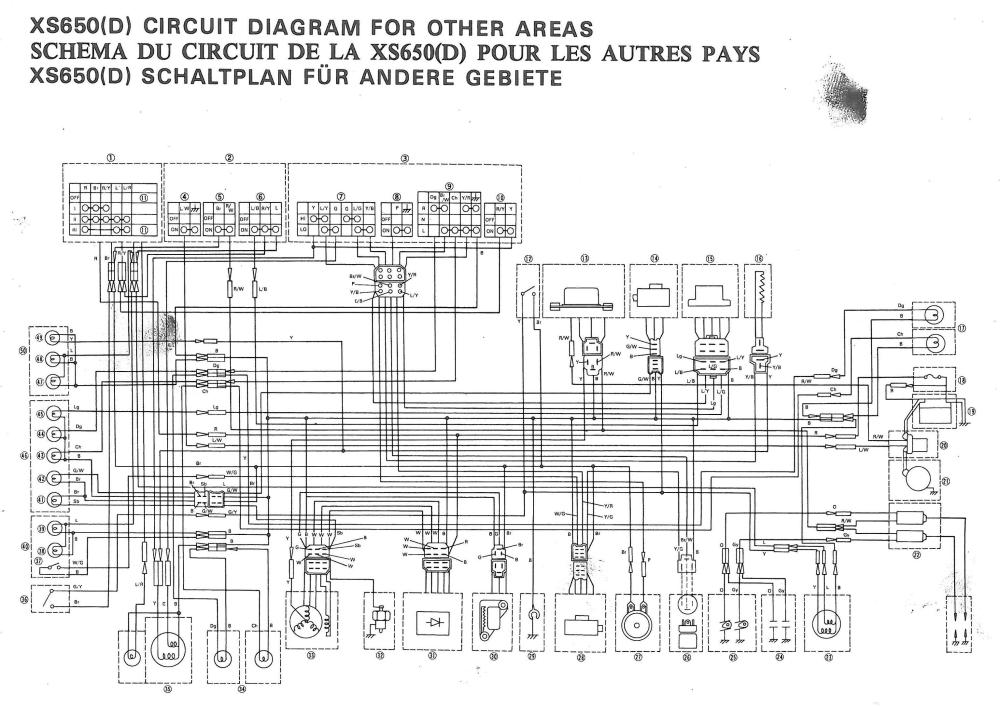 xs650 77 xs d wiring diagram thexscafe. Black Bedroom Furniture Sets. Home Design Ideas