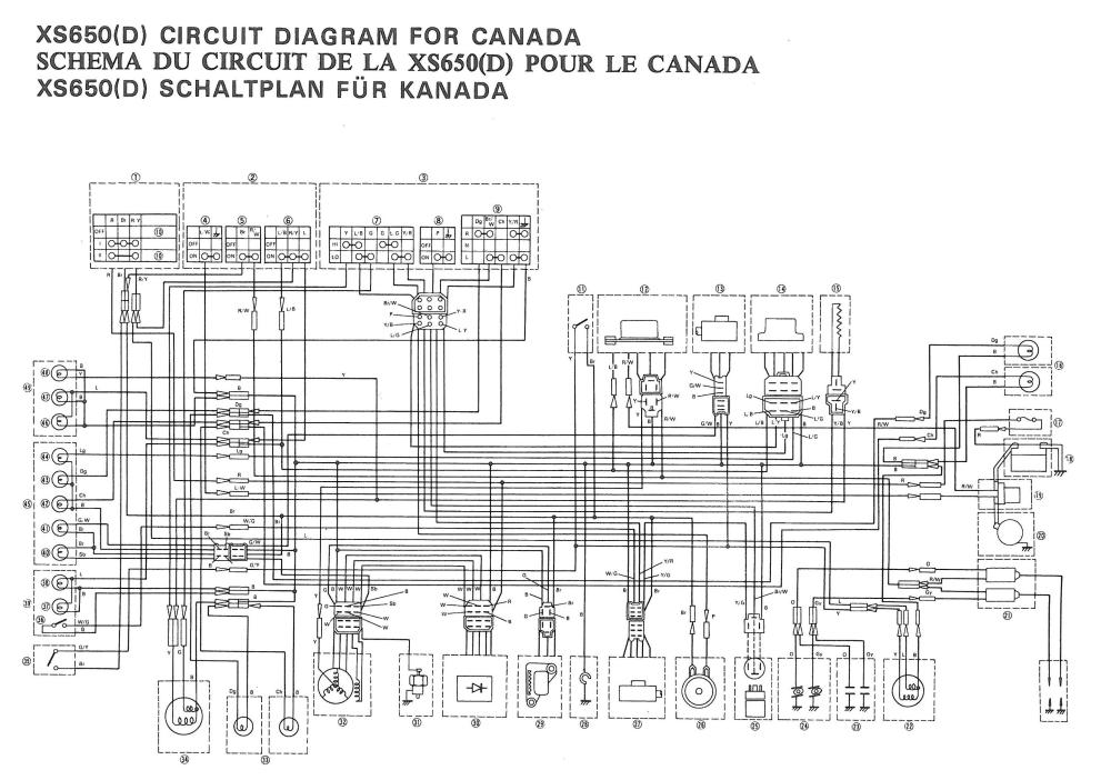 wire diagram yamaha xs1100 bobber yamaha xs1100 ignition switch wiring diagram xs650: 77 xs-d wiring diagram | thexscafe