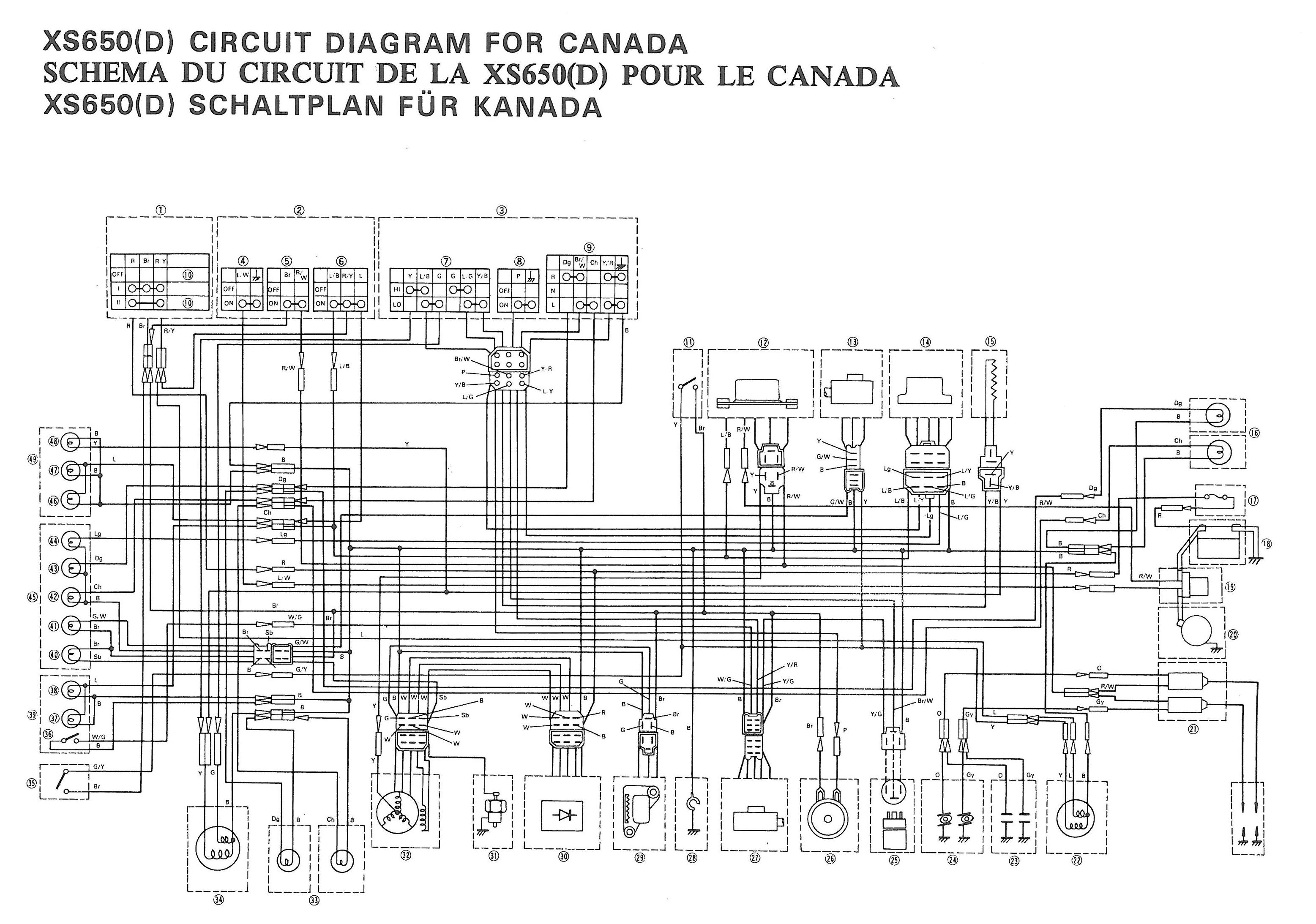 Electrical Wire Diagram On A 1978 Xs750 Trusted Wiring Diagrams 78 Yamaha Dt 100 Xs 750 Basic U2022