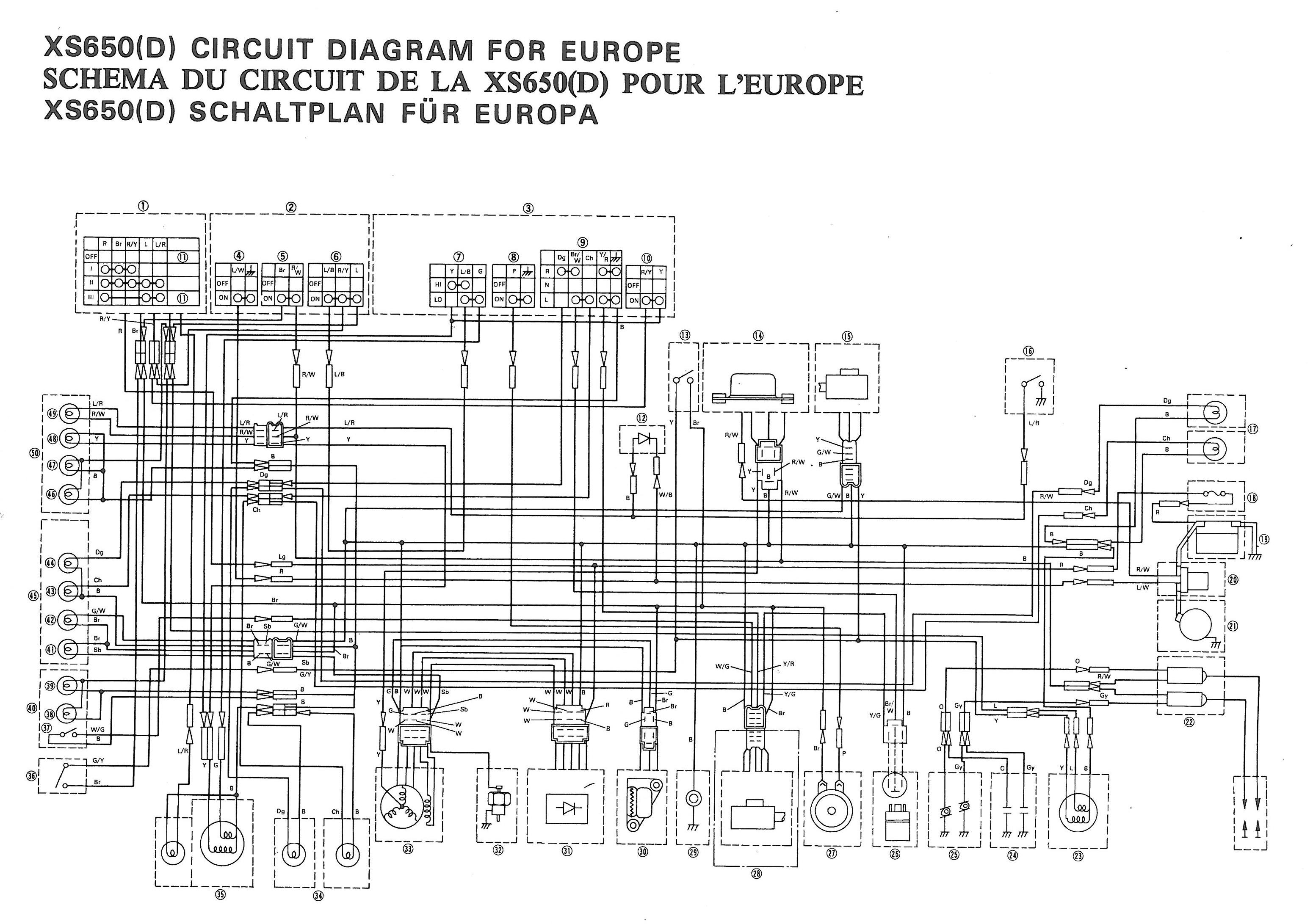 Xs Yamaha Wiring Diagrams Car Explained 1974 360 Enduro Diagram Xs650 77 D Thexscafe Rh Thexscafedotcom Wordpress Com Atv