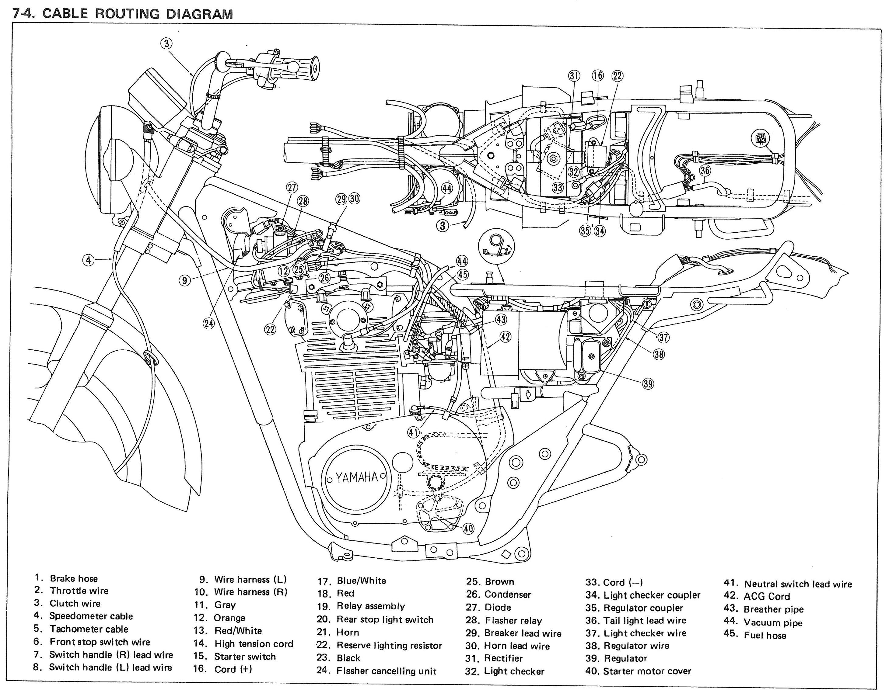 xs650 wiring harness routing auto electrical wiring diagram \u2022 wiring diagram honda ss50 xs650 wiring harness routing example electrical wiring diagram u2022 rh cranejapan co xs650 wiring capacitor 81 xs650 simplified wiring problems