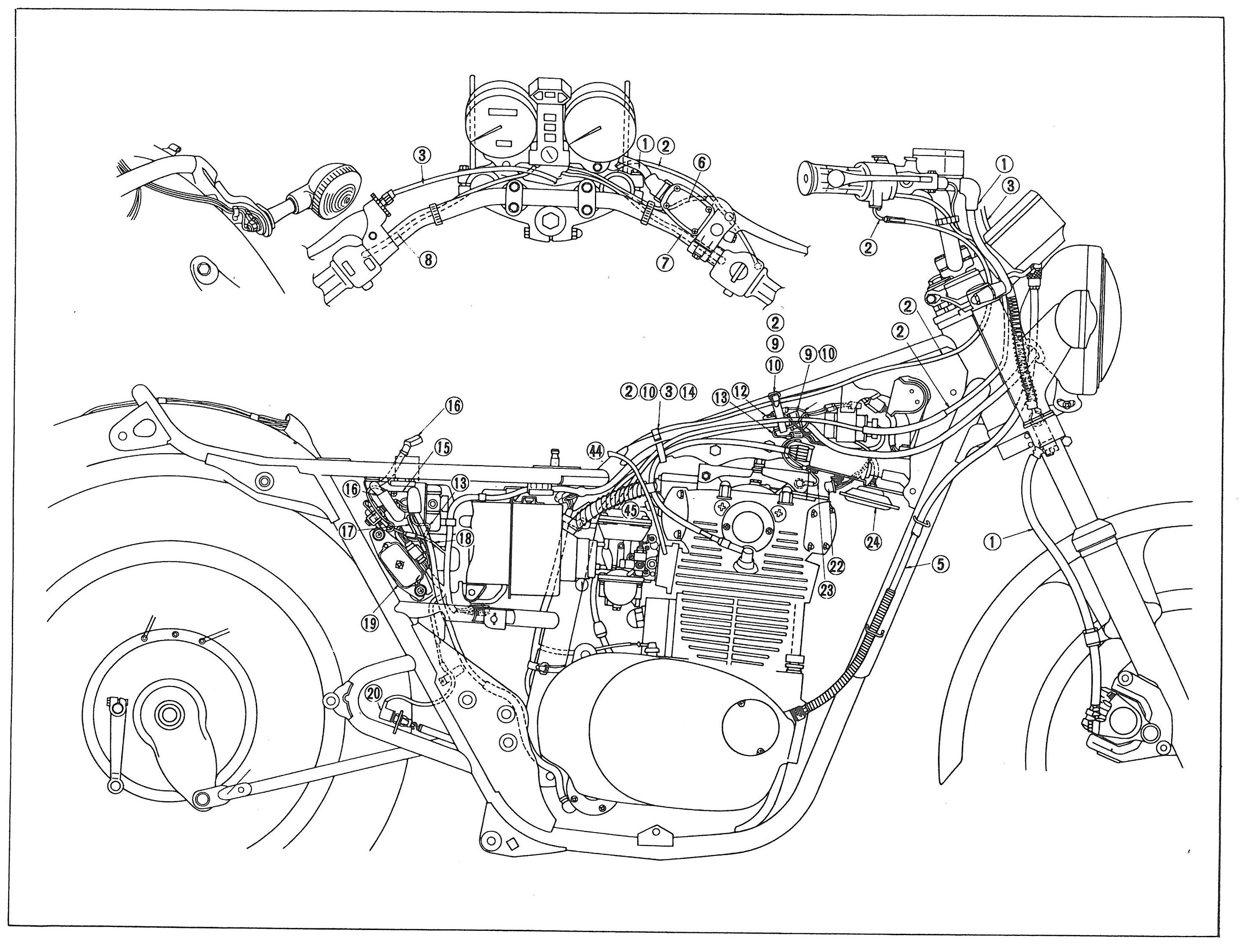 1981 xs650 wiring harness