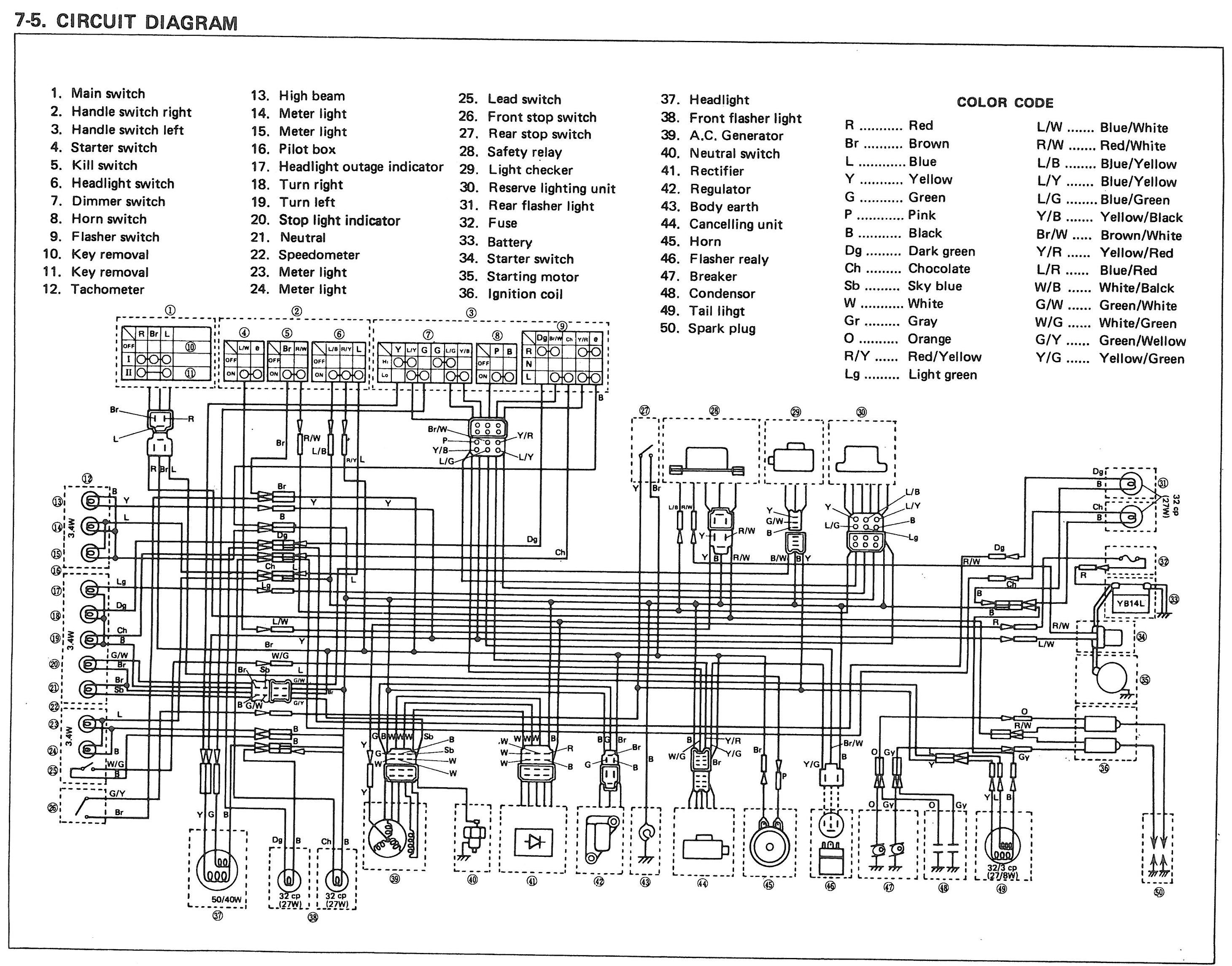 Yamaha Xs650 Wiring Harness : Xs d wiring diagram images
