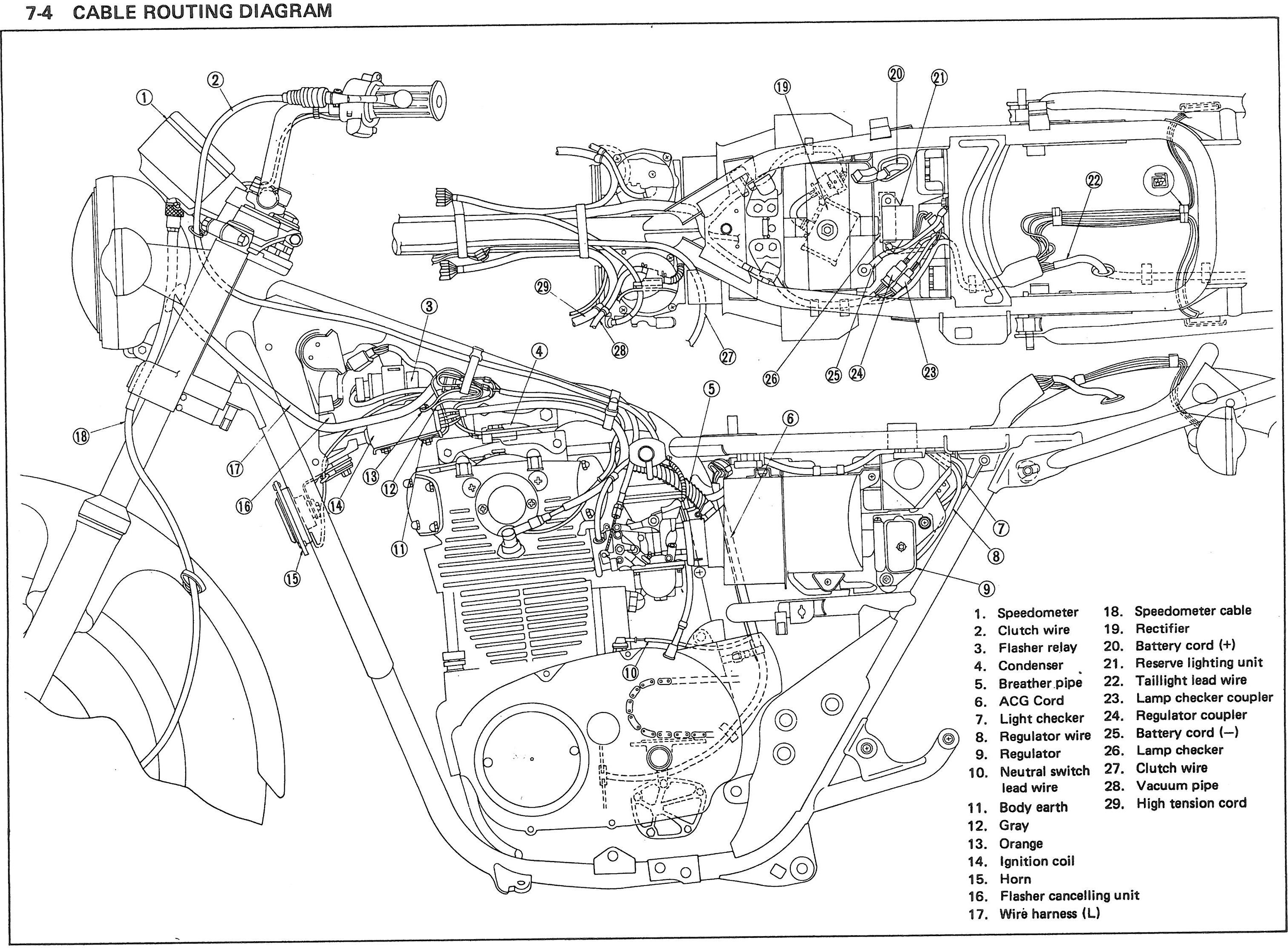 Cafe Racer Wire Diagram Explore Wiring On The Net Honda Gl500 Elec Thexscafe Cx500 Motorcycles