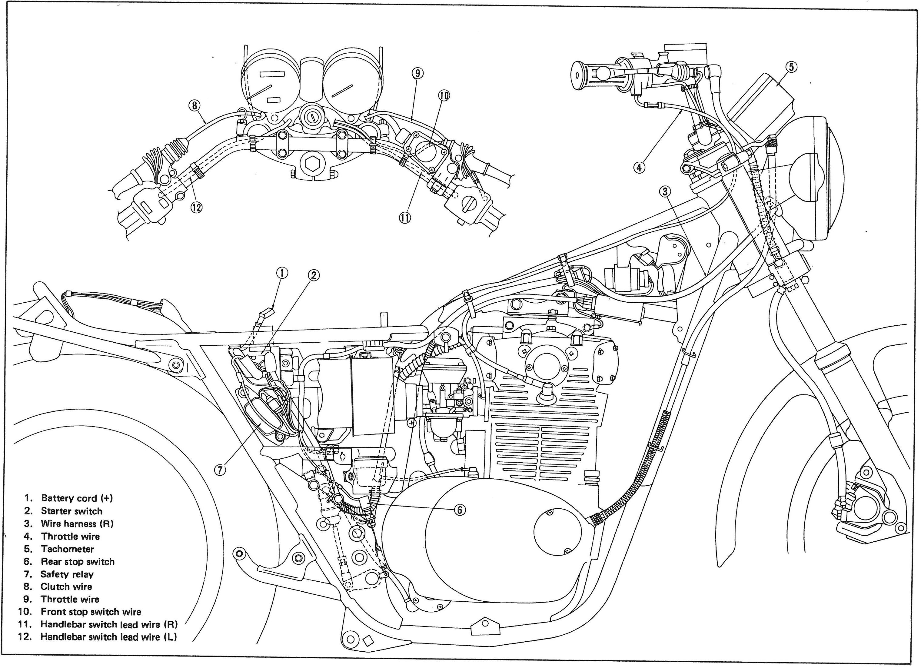 1979 yamaha wiring diagram 400