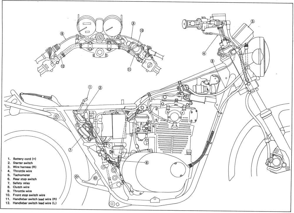 XS650: 78 XS E/SE Wiring | thexscafe