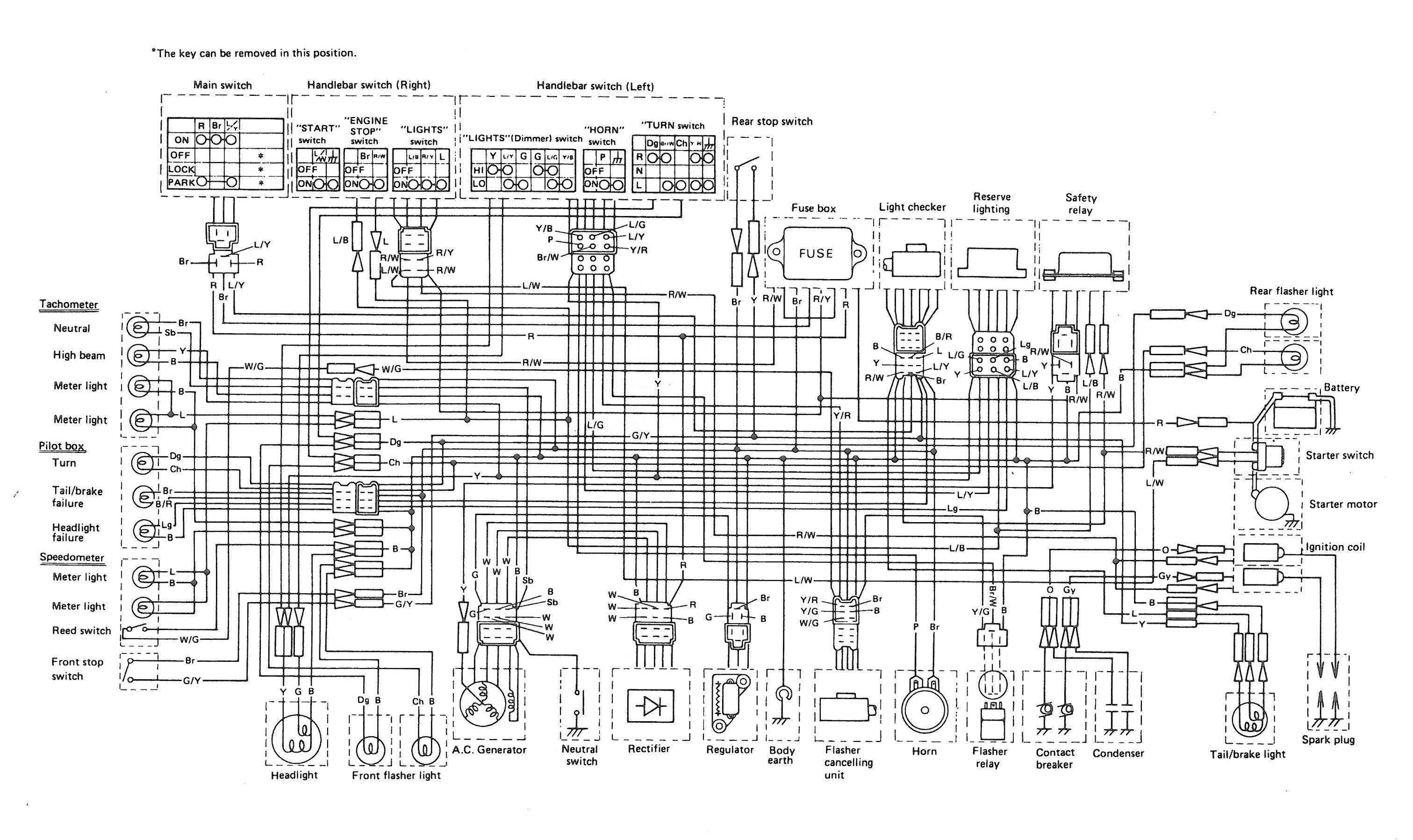 Elec Diagram Thexscafe 1978 Vw Engine 78 Xs Se Wiring