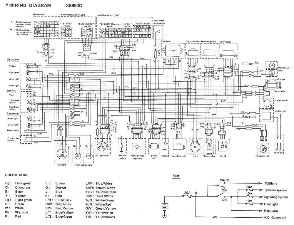 wiring diagram for 1979 chevrolet truck xs650: 80 xs650g and sg wiring diagrams | thexscafe