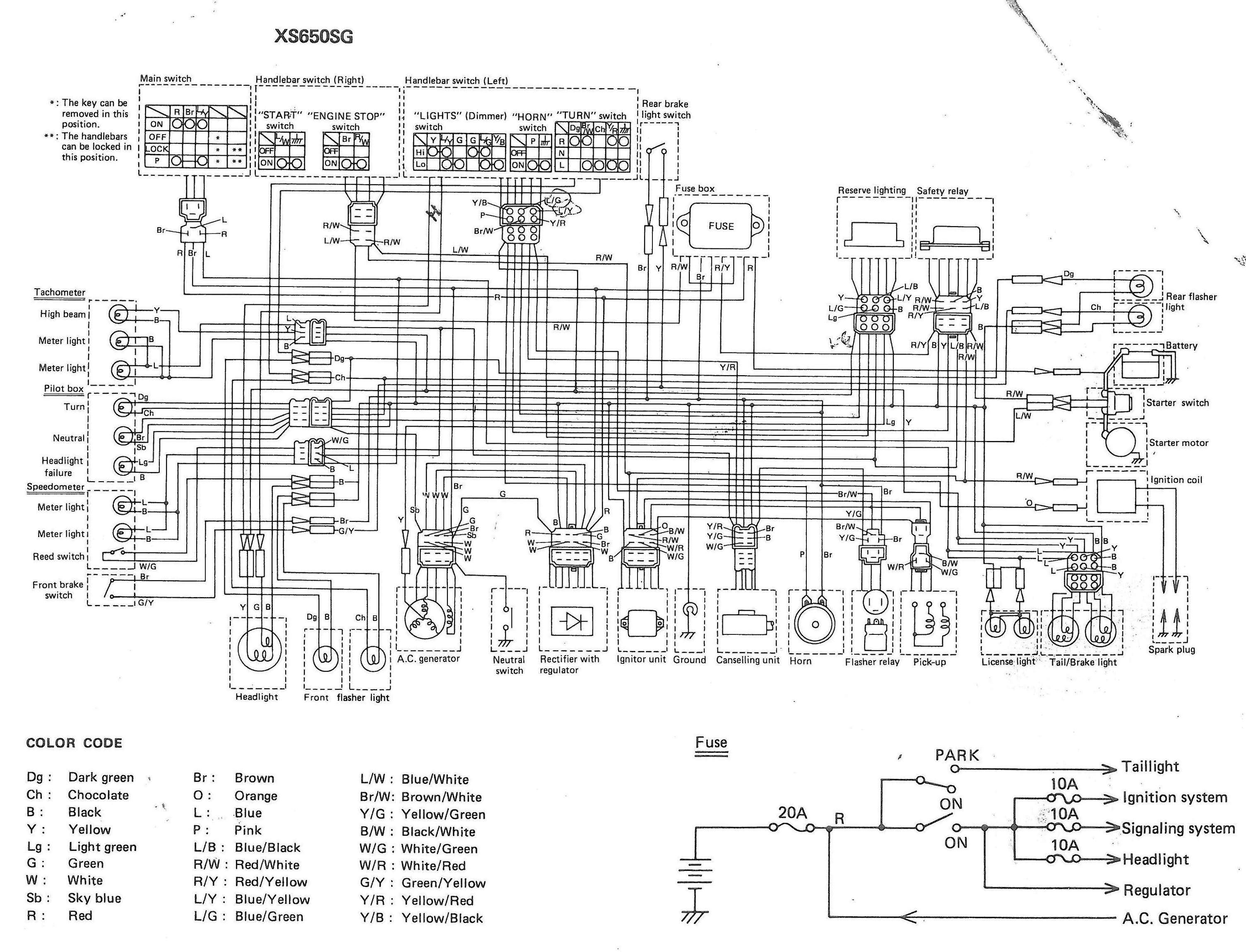 xs650sg wiring diagram 1980 wiring diagram for light switch u2022 rh lomond tw