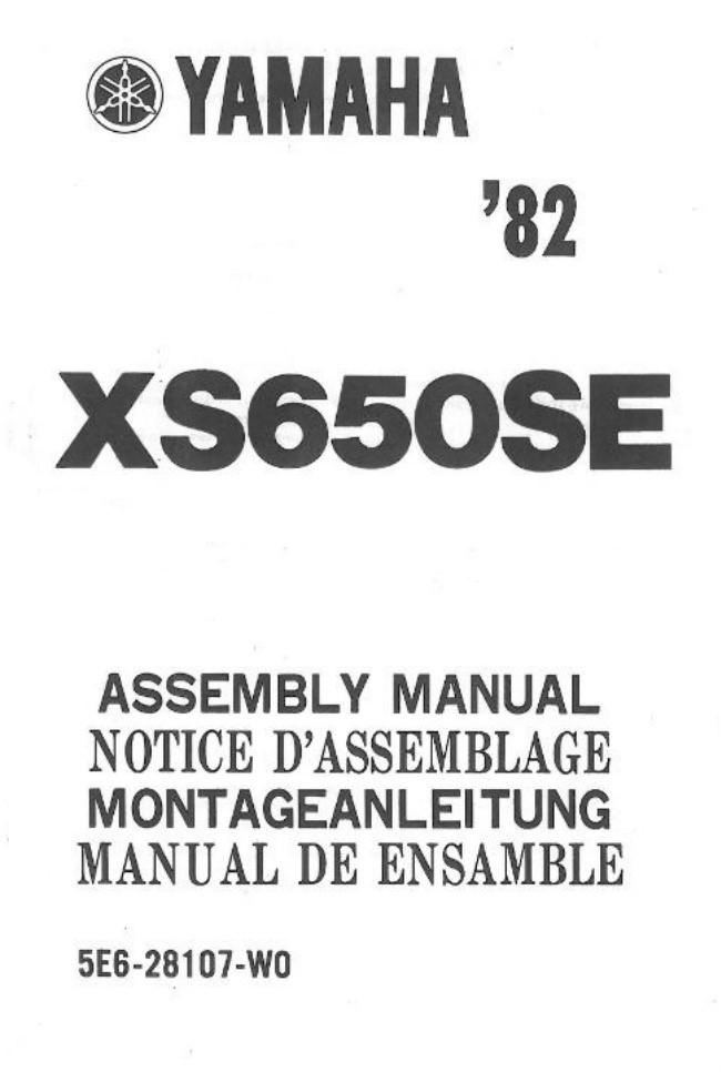 1 .. assembly manual .. 82 XS650SE