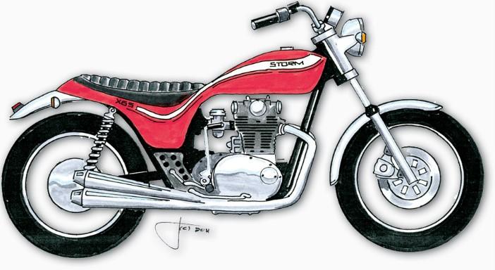Auto, moto - pièces, accessoires YAMAHA 1976 XS650 BRILLIANT RED DECAL GRAPHIC KIT