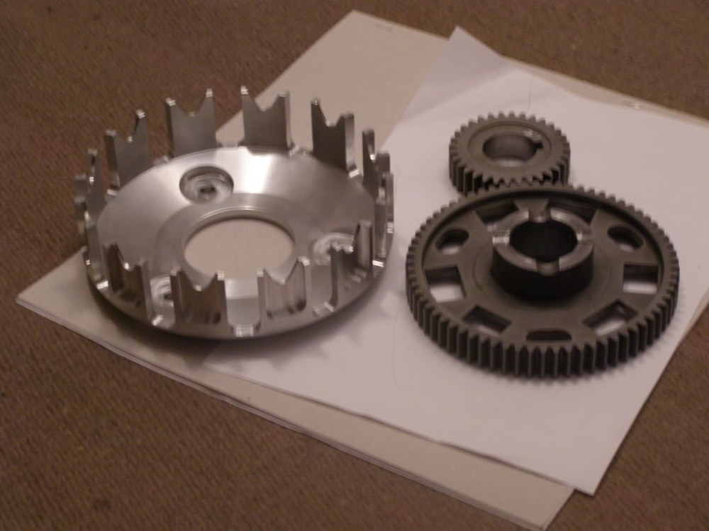 3 .. billet basket-8 plate and high ratio primary gears