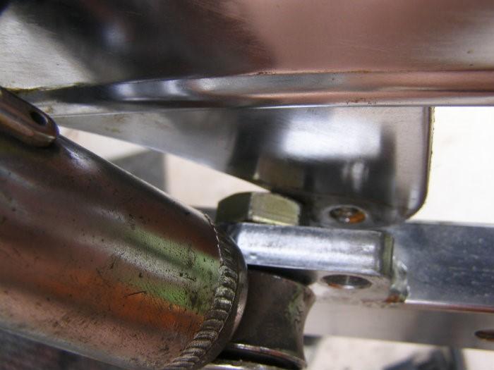 3 .. shock mount bolt blocking the chainguard
