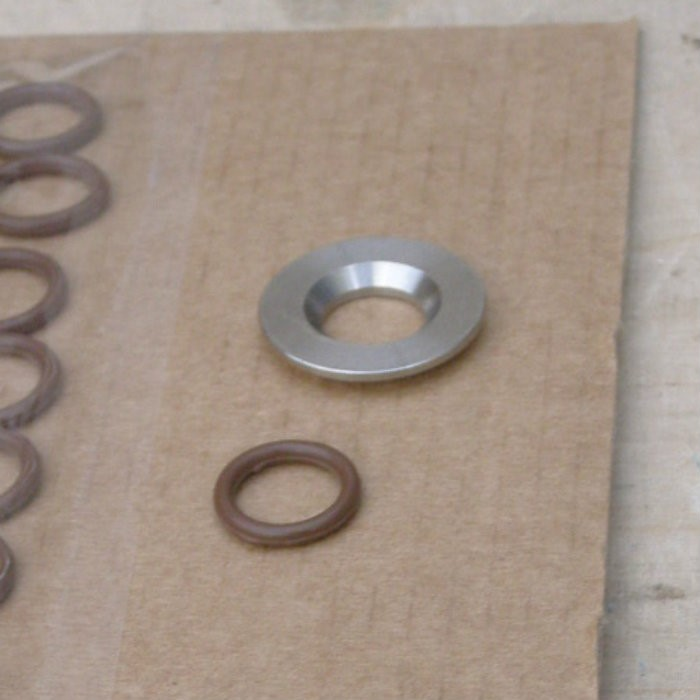 3 .. washer from underside .. chamfered … plus o-ring