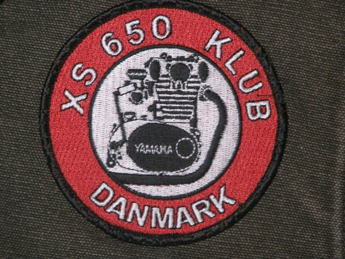 6 .. Danish XS650 Club patch ca 85mm dia