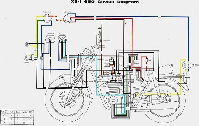 Xs1100 Wiring Diagram | Repair Manual on