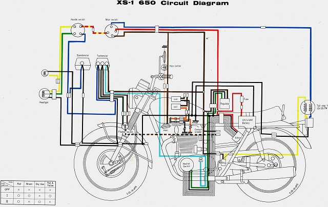 XS650: 70 XS1 Wiring Diagram | thexscafe on