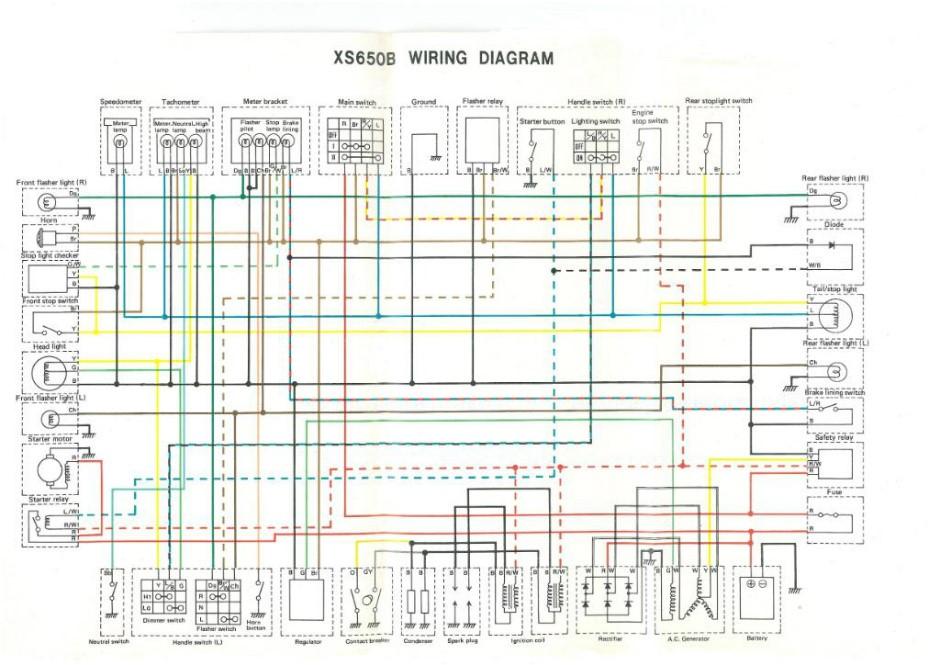 xs850 wiring diagram electrical wiring diagrams rh cytrus co