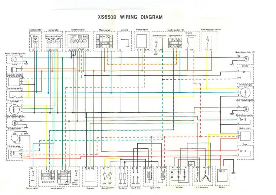 Simple Wiring Diagram Yamaha Xs650 6 wire regulator ... on