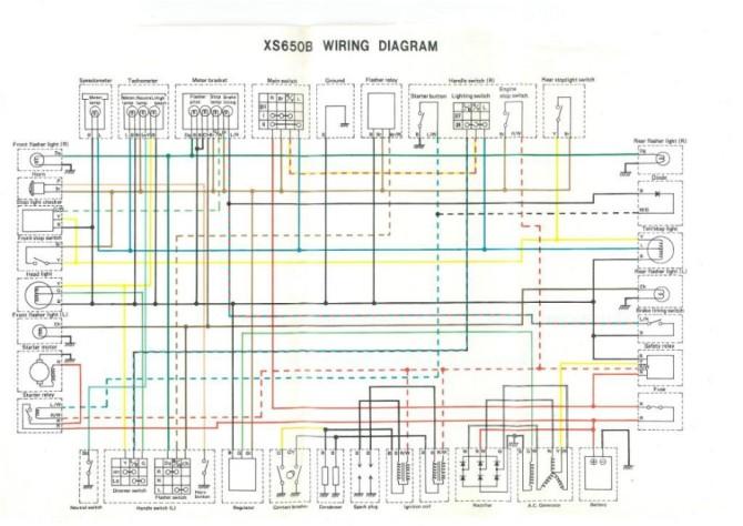 xs650 75 xsb 76 xsc wiring diagram  thexscafe