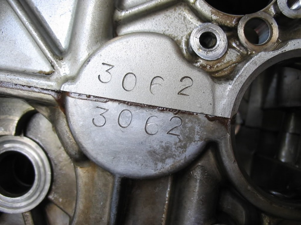 8 .. matching case numbers ... 3062 ... found behind the clutch pack