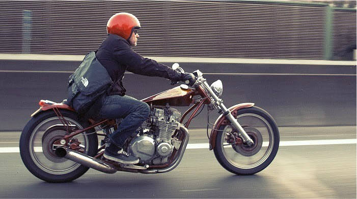 8 .. nice hardtail digger, kawasaki 1100 .. momo … not so sure about the front frame mods
