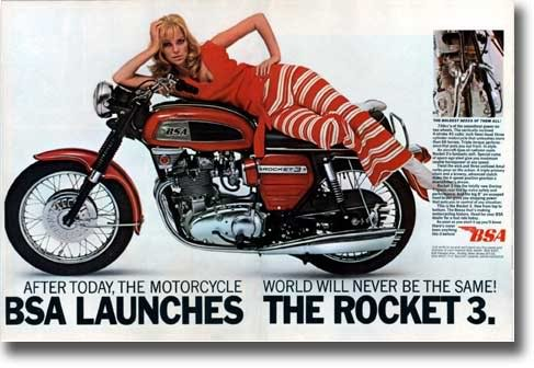 9 .. BSA Rocket 3 ... Ogle designed Rocket 3 Trident ... had the power but why give someone who knows nothing about motorcycles the job of designing one ... beats me
