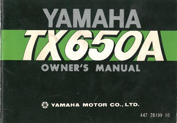 TX650A Owners Manual