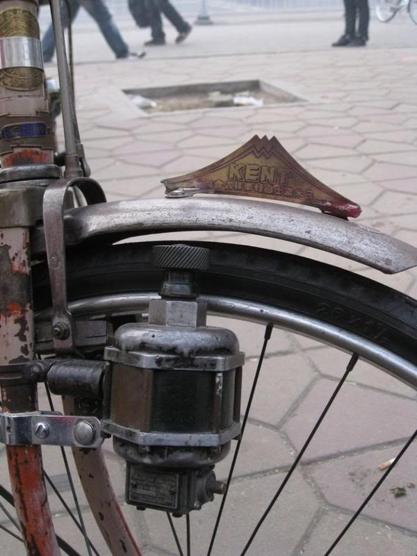 21 .. old japanese bicycle ... mt fuji ... brass ... check out the bottle dynamo ''GE Tachometer'' apparently ex Fei Ji