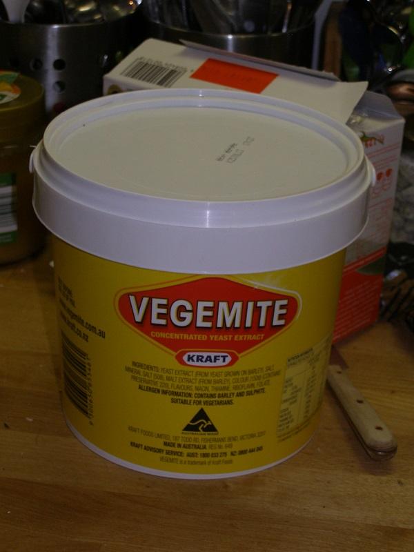 2.5 kg Vegemite .. mmm