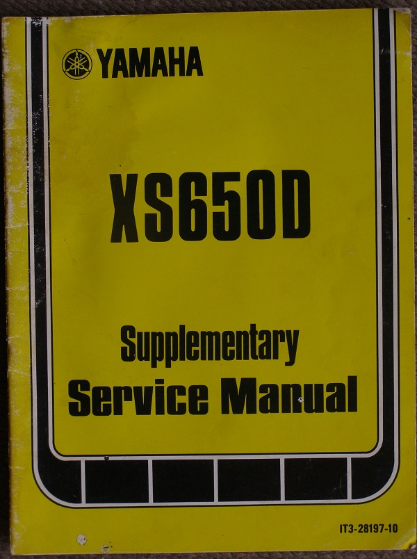 XS650D Supplementary Manual
