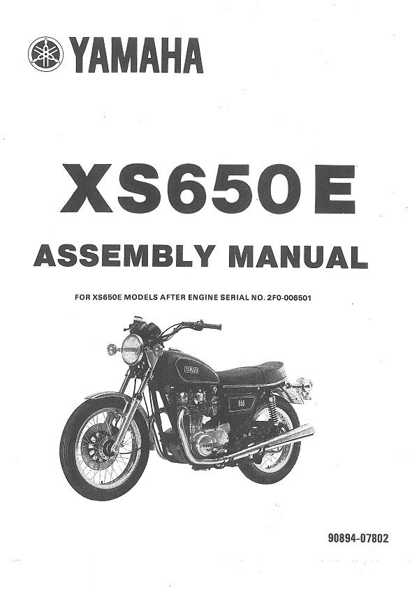 XS650E Assembly Manual